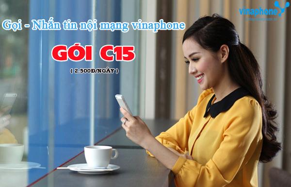 Chỉ 2,5k đăng ký gói cước C15 Vinaphone ưu đãi 15p gọi, 15sms miễn phí