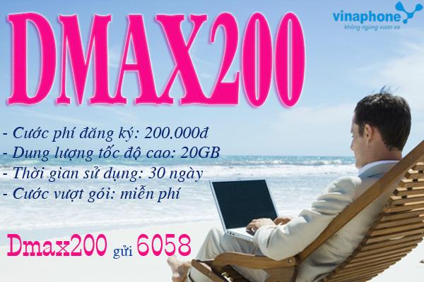 Hướng dẫn quy trình đăng ký gói Dmax200 Vinaphone