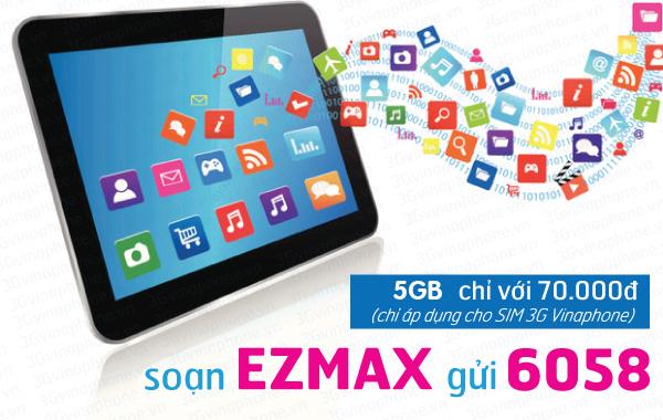 Đăng ký gói cước EZMAX của Vinaphone nhận ngay ưu đãi lớn