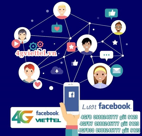 Chỉ từ 3k lướt Facebook tốc độ 4G khi đăng ký gói 4GFB Viettel
