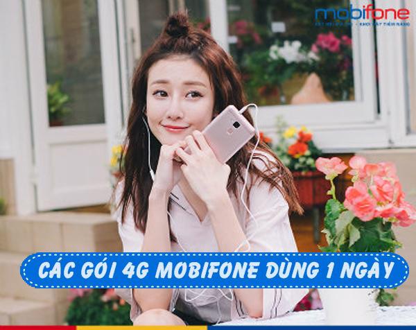 Đăng ký gói 4G Mobifone 1 ngày lướt net 4G chỉ từ 3k đến 10k