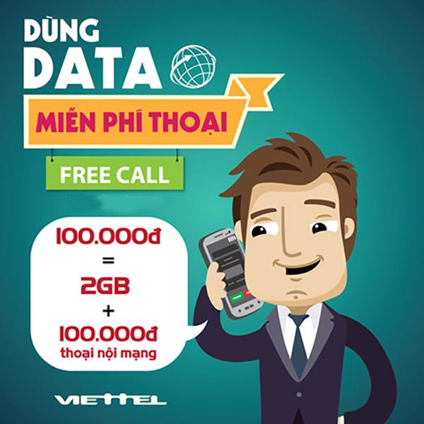 Nhanh tay đăng ký gói T0 Viettel để nhận ngay 2GB và 100.000đ gọi nội mạng