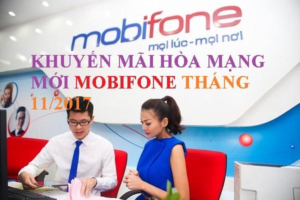 Khuyến mãi hòa mạng mới Mobifone trả trước tháng 11/2017