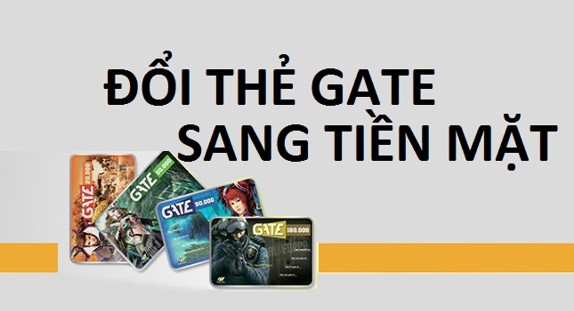 Đổi thẻ gate sang tiền mặt chiết khấu ưu đãi tại doithe66.com