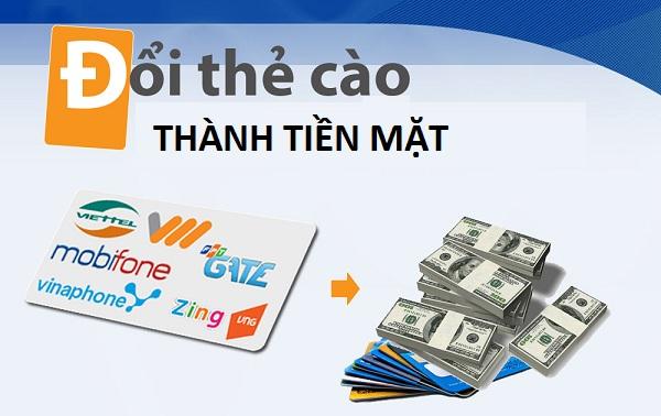 Mức chiết khấu hấp dẫn khi đổi thẻ cào thành tiền mặt tại doithe66.com