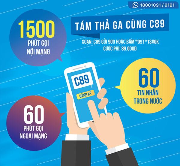 Thông tin ưu đãi của gói C89 Vinaphone