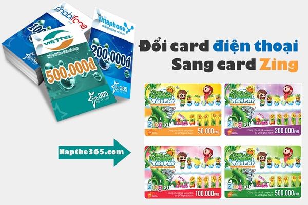 Đổi card điện thoại sang card zing đơn giản nhất