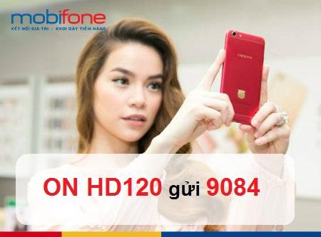 Ưu đãi 6GB/tháng khi sử dụng gói cước 4G HD120 Mobifone