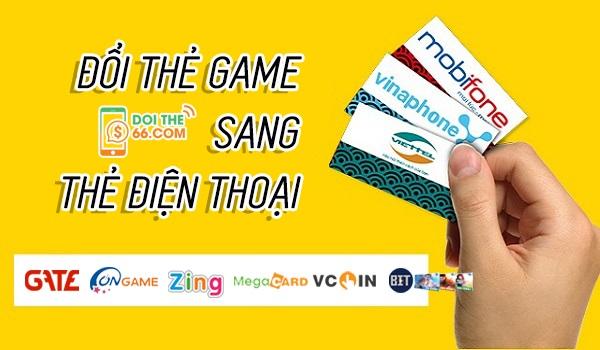 Hướng dẫn đổi thẻ gate lấy thẻ viettel để nạp tiền điện thoại