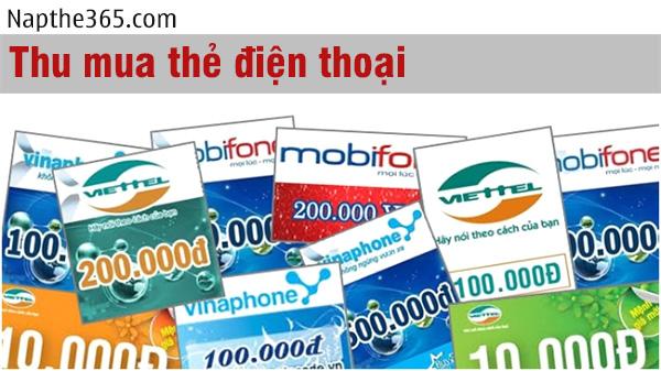 Thu mua thẻ cào điện thoại chiết khấu thấp chỉ có tại Napthe365.com