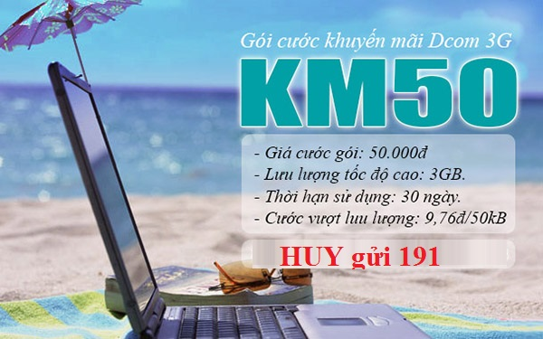 Hướng dẫn cách hủy gói KM50 viettel cho thuê bao Dcom 3G