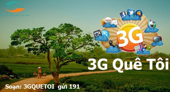 Khám phá những ưu đãi đặc biệt từ gói cước 3G Quê tôi của Viettel