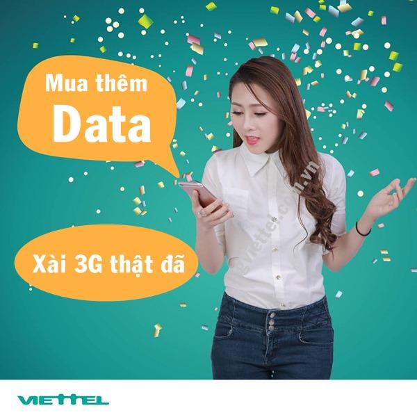 Hướng dẫn mua thêm lưu lượng 3G Viettel tốc độ cao chỉ với 7.000đ