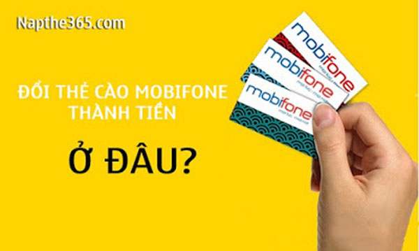 Thu mua thẻ điện thoại Mobifone chiết khấu 82% tại Napthe365.com
