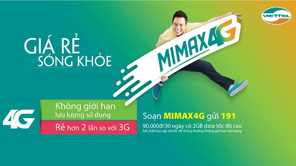 Đăng ký MiMax4G Viettel trọn gói - Lướt net 4G siêu tốc chỉ 90.000đ