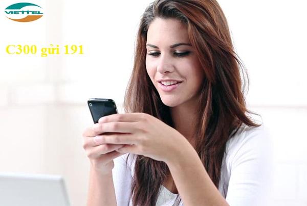 Đăng kí gói C300 viettel nhận ưu đãi lớn về số phút gọi cũng như 3G