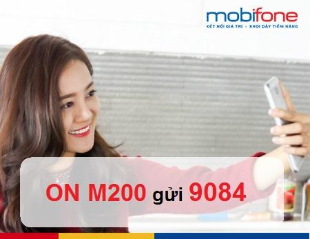 Nhận ngay 5.5GB khi đăng ký gói cước M200 Mobifone
