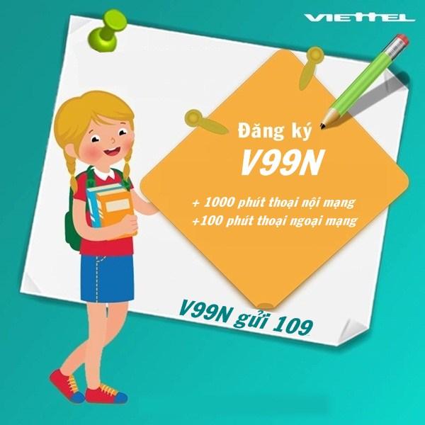 Ưu đãi phút gọi cực sốc với gói cước V99N Viettel