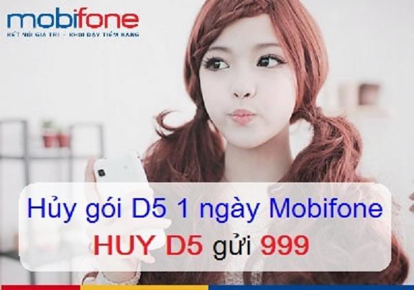 Hướng dẫn hủy gói cước 3G 1 ngày D5K Mobifone