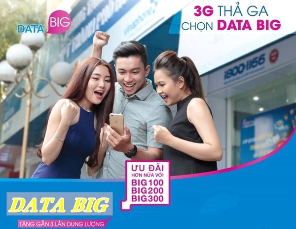 Những gói cước BIG DATA Vinaphone cho sim 3G/4G ưu đãi khủng