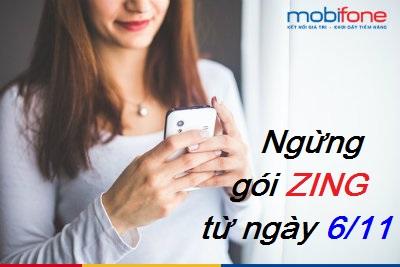 Hot: Ngừng cung cấp gói cước Zing Mobifone từ 6/11