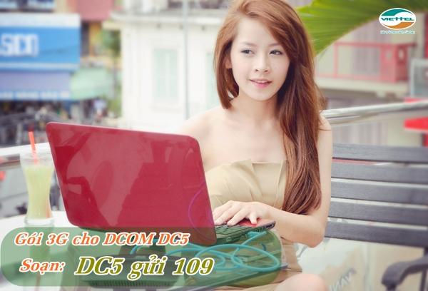 Đăng ký gói DC5 Viettel chỉ với 5.000d nhận ngay 1GB cho Dcom