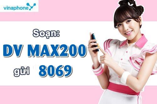 Cú pháp đơn giản đăng ký gói cước Max200 của Vinaphone