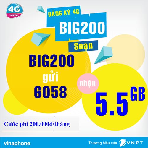 Nhận ưu đãi lớn khi đăng ký gói cước BIG200 của Vinaphone