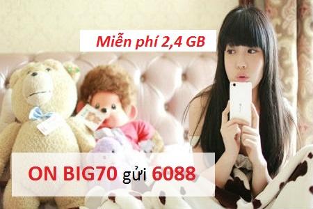 Cú pháp dễ nhớ để đăng ký gói cước BIG70 của Vinaphone