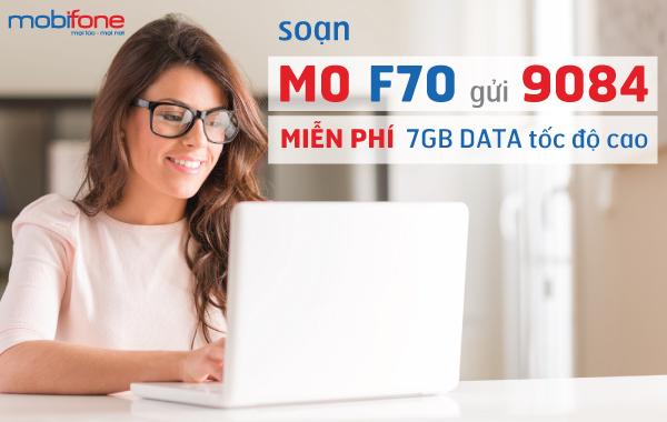 Sử dụng gói cước F70 Fast Connect của Mobifone với 7Gb/tháng