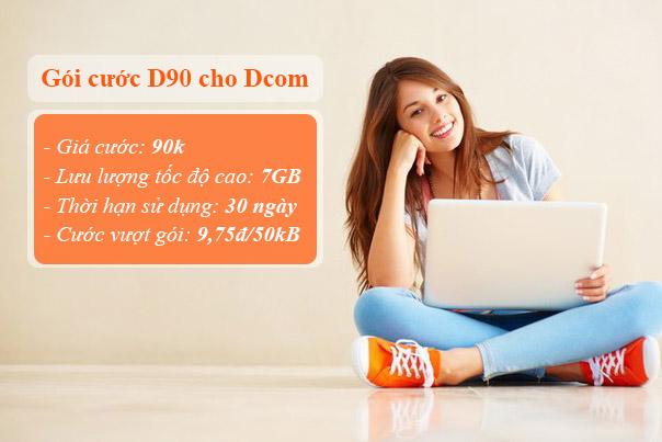 Hướng dẫn đăng ký gói cước D90 Viettel cho Dcom 3G