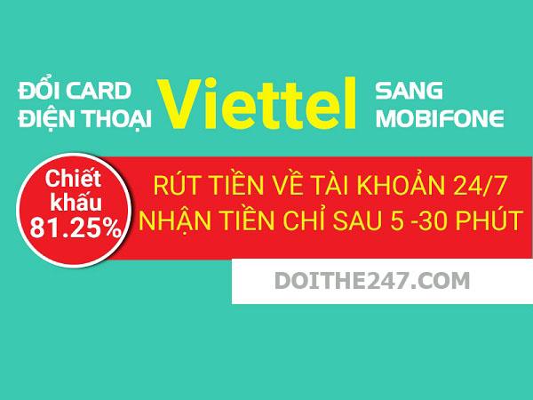 Đổi card điện thoại Viettel sang Mobifone siêu nhanh dành cho bạn
