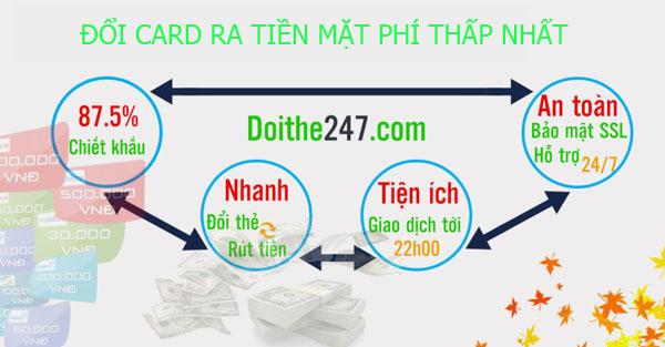 Hướng dẫn cách đổi card ra tiền mặt phí thấp nhất