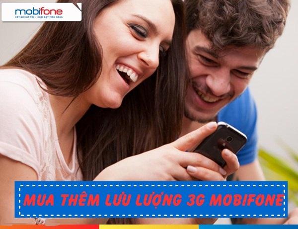 Hướng dẫn cách mua thêm dung lượng data 3G mobifone