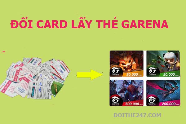 Cách đổi card lấy thẻ Garena chiết khấu thấp cực đơn giản