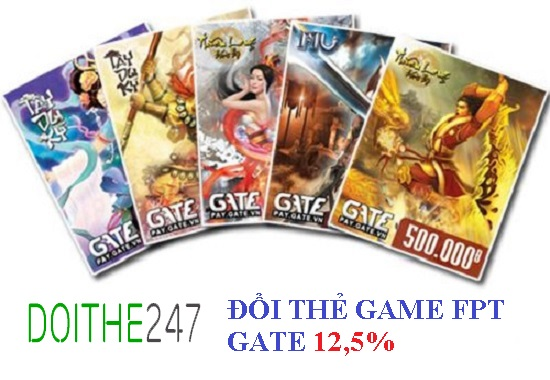 Đổi thẻ game FPT Gate chiết khấu siêu tốt trên Doithe247.com