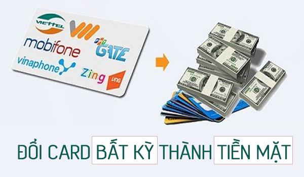 Cách đổi card thành tiền nhanh chóng tại doithe247.com