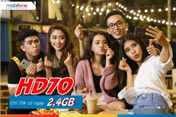 Đăng ký gói HD70 Mobifone ưu đãi nhất hiện nay