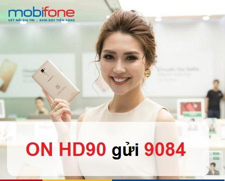 Đăng ký gói HD90 mobifone nhận tới 3,5GB data