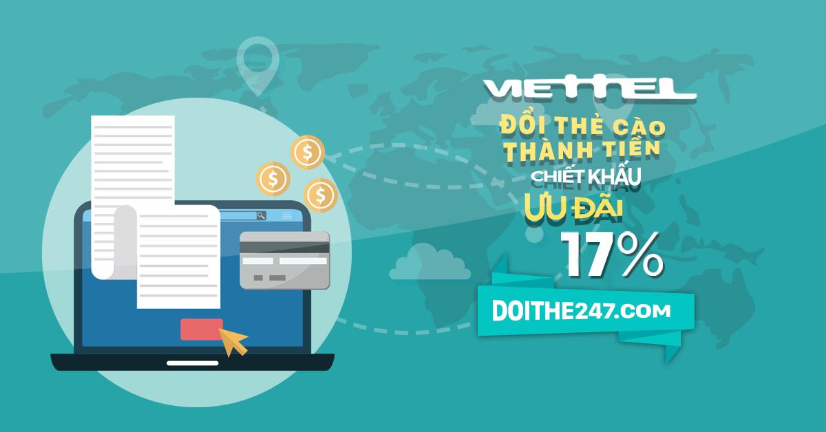 Hướng dẫn đổi card điện thoại Viettel chậm trên Doithe247.com