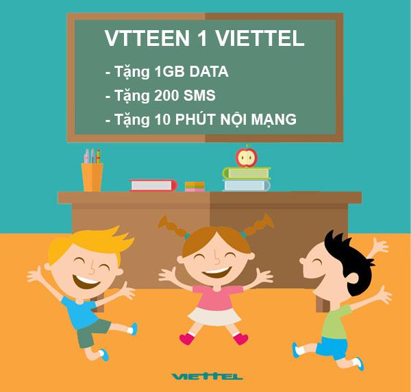 Hướng dẫn đăng ký gói VT TEEN 1 Viettel