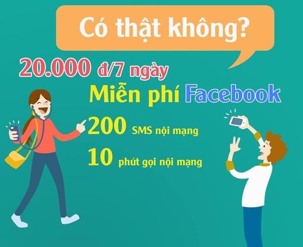 Thỏa sức online Facebook cùng gói cước VT TEEN 2 Viettel