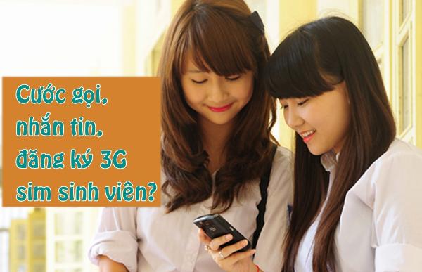 Cước gọi thoại, SMS, đăng ký 3G sim sinh viên Viettel