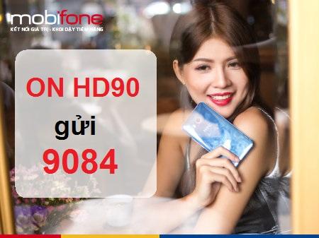 Hòa mạng sim 4G để sử dụng gói cước HD90 Mobifone