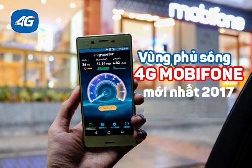 Cập nhật thông tin tỉnh thành phố  phủ sóng 4G mobifone