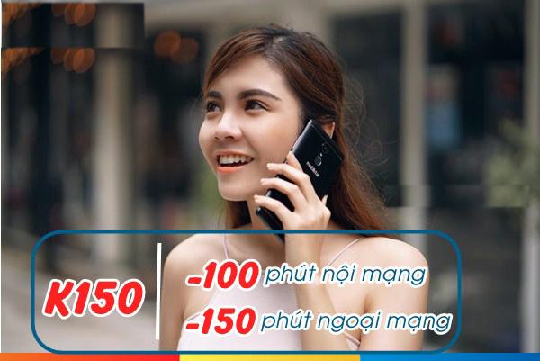 Đăng ký gói K150 Mobifone ưu đãi gọi thoại 250 phút nội ngoại mạng