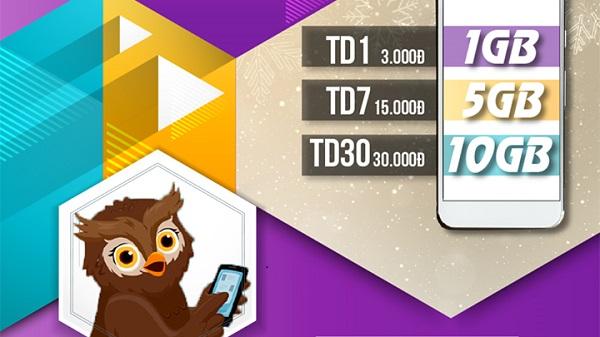 Đăng ký gói cươc TD7 của Viettel lướt web thâu đêm với 5GB mỗi tuần