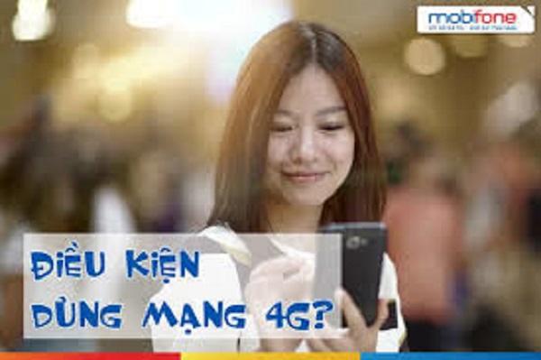 Các điều kiện sử dụng mạng 4G Vinaphone