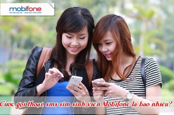 Cách tính cước phí gọi thoại, nhắn tin của sim sinh viên Mobifone