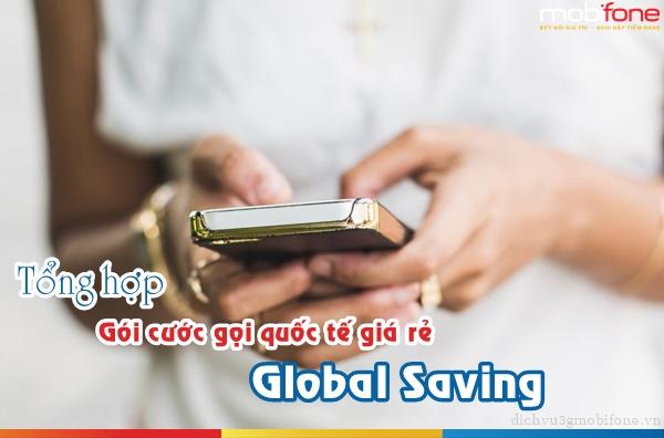 Đăng ký gói Global Saving Mobifone mới nhất năm 2017